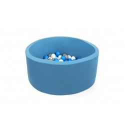 Suchy basen z piłeczkami 90x40 okrągły - turkusowy