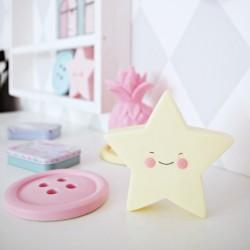 Lampka dziecięca LED gwiazdka różowa