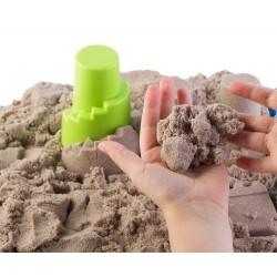 Piasek kinetyczny 2 kg NaturSand z foremkami i piaskownicą