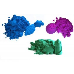 Piasek kinetyczny MIX -  3 kg kolorowy - polski piasek