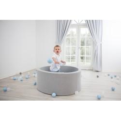 Suchy basen z piłeczkami 100x40 okrągły 400 szt. piłek