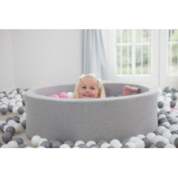 Suchy basen z piłeczkami 115x30 okrągły 400 szt. piłek
