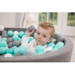 Suchy basen z piłeczkami 115x40 okrągły 500 szt. piłek
