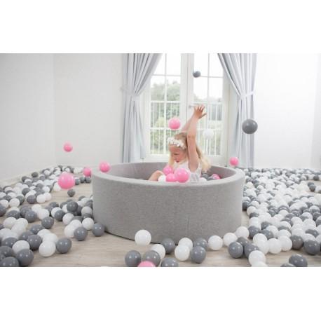 Suchy basen z piłeczkami 115x50 okrągły 600 szt. piłek