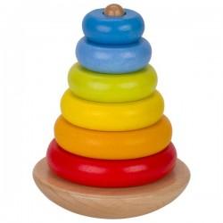Balansująca wieża z pierścieniami