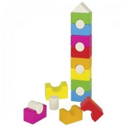 Piramida - domek, kolorowa wieża