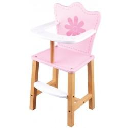 Krzesełko dla lalek z kwiatkiem