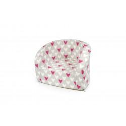 Fotelik z pianki dla dzieci - serduszka