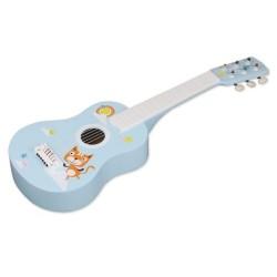 Gitara drewniana z kotkiem