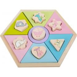 Puzzle pastelowe zwierzątka