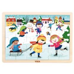 Puzzle sezonowe Zima