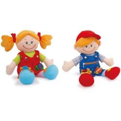 Lalki z zapięciami Klara i Marcel