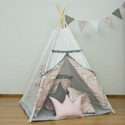 Namiot tipi dla dziecka Jednorożce na różu