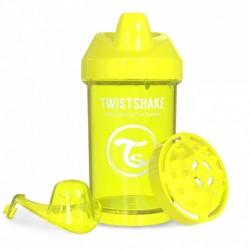 Twistshake - Kubek niekapek z mikserem do owoców, żółty 300ml