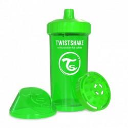 Twistshake - Kubek niekapek z mikserem do owoców, zielony 360ml