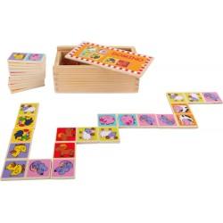 Domino drewniane obrazkowe - farma