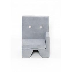 Fotelik dla dziecka Premium MISIOO - lewy - jasnoszary
