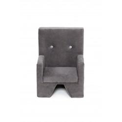 Fotelik dla dziecka Premium MISIOO - podłokietniki - szary