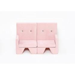 Sofa dla dziecka Premium MISIOO - 2 elementy - róż