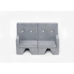 Sofa dla dziecka Premium MISIOO - 2 elementy - jasnoszary
