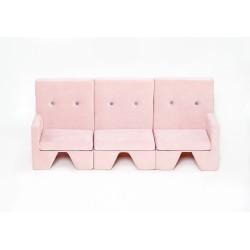 Sofa dla dziecka Premium MISIOO - 3 elementy - róż
