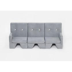 Sofa dla dziecka Premium MISIOO - 3 elementy - jasnoszary