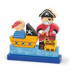 Klocki magnetyczne Pirat