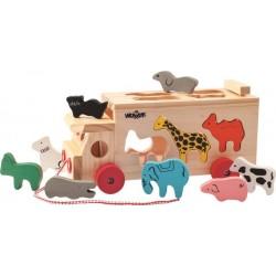 Ciężarówka - sorter ze zwierzętami