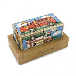Puzzle sześcienne kostki z dźwiękiem Pojazdy